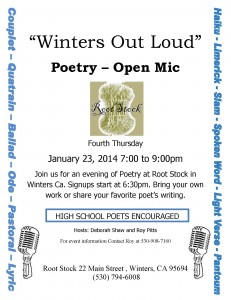 Root Stock Poetry Open Mike January 23